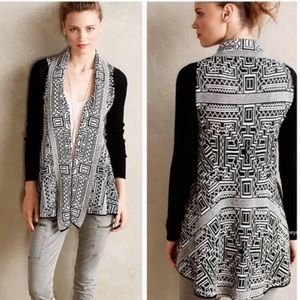 Anthropologie Field and Flower Aztec cardigan